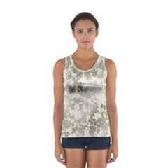 Wall Rock Pattern Structure Dirty Women s Sport Tank Top  by Simbadda