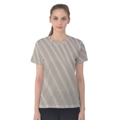 Sand Pattern Wave Texture Women s Cotton Tee by Simbadda