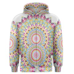 Kaleidoscope Star Love Flower Color Rainbow Men s Zipper Hoodie by Alisyart