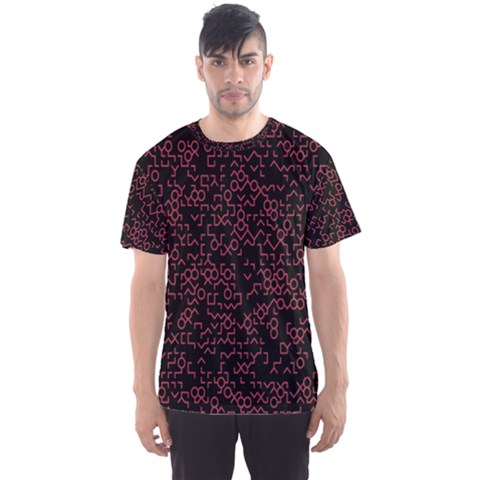 Random Pink Black Red Men s Sport Mesh Tee by Alisyart