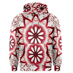 Prismatic Flower Floral Star Gold Red Orange Men s Pullover Hoodie by Alisyart