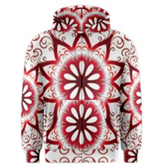 Prismatic Flower Floral Star Gold Red Orange Men s Zipper Hoodie by Alisyart