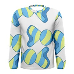 Candy Yellow Blue Men s Long Sleeve Tee by Alisyart