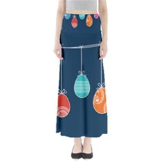 Easter Egg Balloon Pink Blue Red Orange Maxi Skirts by Alisyart