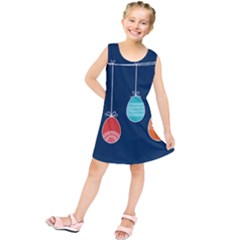 Easter Egg Balloon Pink Blue Red Orange Kids  Tunic Dress by Alisyart