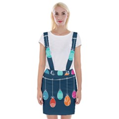 Easter Egg Balloon Pink Blue Red Orange Suspender Skirt by Alisyart