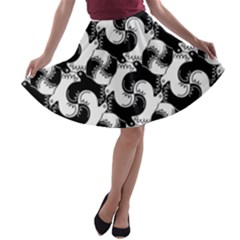 Birds Flock Together A Line Skater Skirt by Simbadda