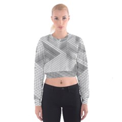 Design Grafis Pattern Women s Cropped Sweatshirt by Simbadda