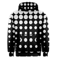 Circle Masks White Black Men s Zipper Hoodie by Alisyart