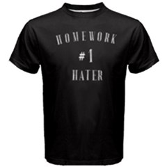Black Homework Hater  Men s Cotton Tee