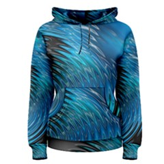 Waves Wave Water Blue Hole Black Women s Pullover Hoodie by Alisyart