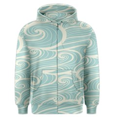 Blue Waves Men s Zipper Hoodie by Alisyart