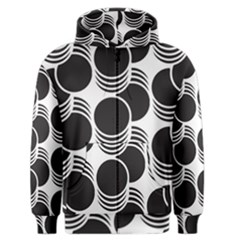 Floral Geometric Circle Black White Hole Men s Zipper Hoodie by Alisyart