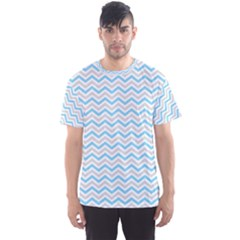 Free Plushie Wave Chevron Blue Grey Gray Men s Sport Mesh Tee
