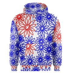 Flower Floral Smile Face Red Blue Sunflower Men s Pullover Hoodie by Alisyart