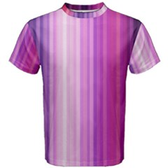 Pink Vertical Color Rainbow Purple Red Pink Line Men s Cotton Tee by Alisyart