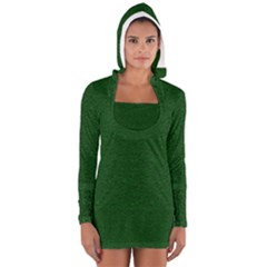 Texture Green Rush Easter Women s Long Sleeve Hooded T Shirt by Simbadda