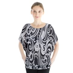 Black White Pattern Shape Patterns Blouse by Simbadda