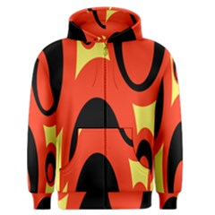 Circle Eye Black Red Yellow Men s Zipper Hoodie
