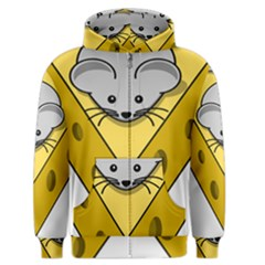 Cheese Mose Yellow Grey Men s Zipper Hoodie by Alisyart