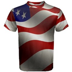 Flag United States Stars Stripes Symbol Men s Cotton Tee by Simbadda