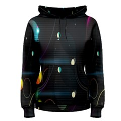 Glare Light Luster Circles Shapes Women s Pullover Hoodie by Simbadda