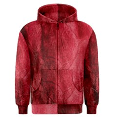 Red Background Texture Men s Zipper Hoodie by Simbadda