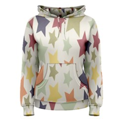 Star Colorful Surface Women s Pullover Hoodie by Simbadda