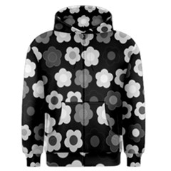 Floral Pattern Men s Zipper Hoodie by Valentinaart