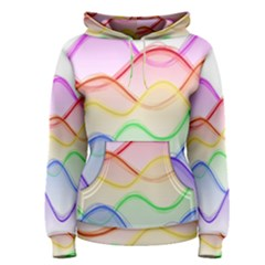 Twizzling Brain Waves Neon Wave Rainbow Color Pink Red Yellow Green Purple Blue Women s Pullover Hoodie by Alisyart