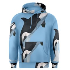 Whale Animals Sea Beach Blue Jump Illustrations Men s Pullover Hoodie by Alisyart