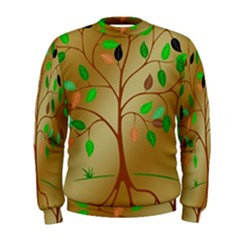 Tree Root Leaves Contour Outlines Men s Sweatshirt by Simbadda