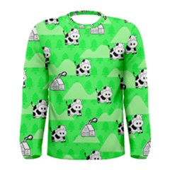 Animals Cow Home Sweet Tree Green Men s Long Sleeve Tee by Alisyart