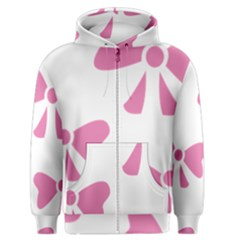 Bow Ties Pink Men s Zipper Hoodie by Alisyart