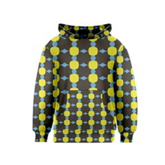 Blue Black Yellow Plaid Star Wave Chevron Kids  Pullover Hoodie by Alisyart