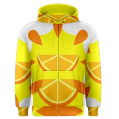 Citrus Cutie Request Orange Limes Yellow Men s Zipper Hoodie by Alisyart