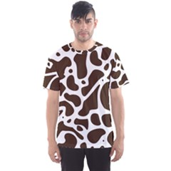 Dalmantion Skin Cow Brown White Men s Sport Mesh Tee by Alisyart