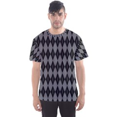 Chevron Wave Line Grey Black Triangle Men s Sport Mesh Tee