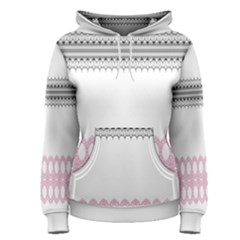 Crown King Quinn Chevron Wave Pink Black Women s Pullover Hoodie by Alisyart