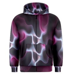 Colorful Fractal Background Men s Zipper Hoodie by Simbadda