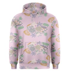 Floral Flower Rose Sunflower Star Leaf Pink Green Blue Men s Pullover Hoodie by Alisyart