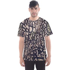 Wallpaper Texture Pattern Design Ornate Abstract Men s Sport Mesh Tee by Simbadda