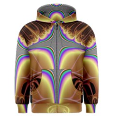 Symmetric Fractal Men s Zipper Hoodie by Simbadda