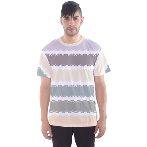 Muted Lace Ribbon Original Grey Purple Pink Wave Men s Sport Mesh Tee by Alisyart
