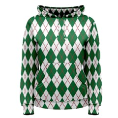 Plaid Triangle Line Wave Chevron Green Red White Beauty Argyle Women s Pullover Hoodie by Alisyart