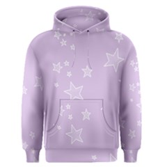 Star Lavender Purple Space Men s Pullover Hoodie by Alisyart