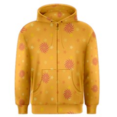 Star White Fan Orange Gold Men s Zipper Hoodie by Alisyart