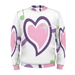 Sweetie Belle s Love Heart Star Music Note Green Pink Purple Men s Sweatshirt by Alisyart