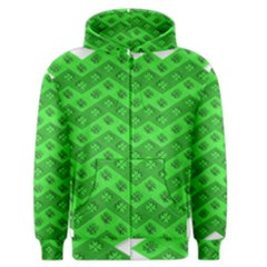 Shamrocks 3d Fabric 4 Leaf Clover Men s Zipper Hoodie by Simbadda