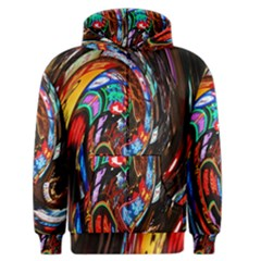 Abstract Chinese Inspired Background Men s Zipper Hoodie by Simbadda